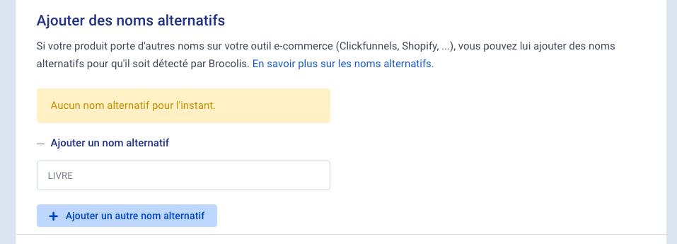 Matchera tous les produits e-commerce contenant le mot